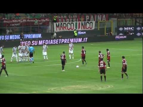 AC Milan 2-1 Juventus FC - Clarence Seedorf's Freekick Goal (Trofeo Luigi Berlusconi, 22/08/11)
