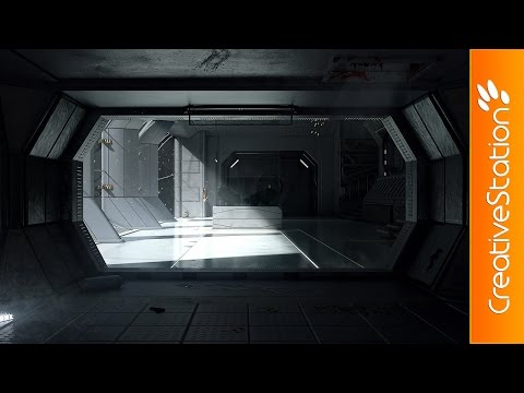 Sevastopol - Alien Isolation - 3D Speed art (#3D Max, #Photoshop) | CreativeStation