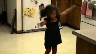 Cutest little girl in the world dancing to When in Rome