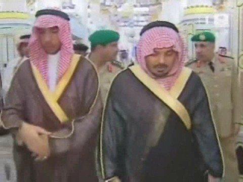 King Abdullah's visit to Masjid Nabawi