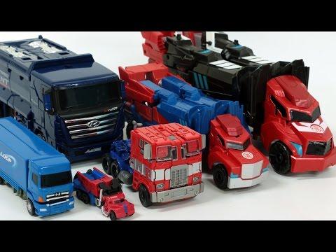 Transformers Optimus Prime Carbot Truck Robot Car Toys 트랜스포머 옵티머스 프라임 헬로카봇 펜타스톰 트럭 장난감 변신 동영상