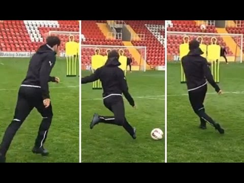 Cesc Fabregas Scores Amazing Slow Motion Free Kick At Puma Shoot