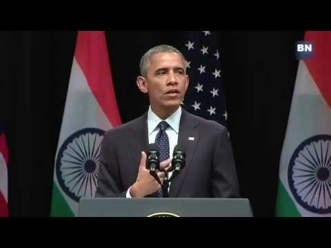 U S President Barack Obama Speaks at the SIRI FORT, New Delhi INDIA 27-jan-2015 [FULL SPEECH]