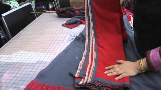 making neckline from lace
