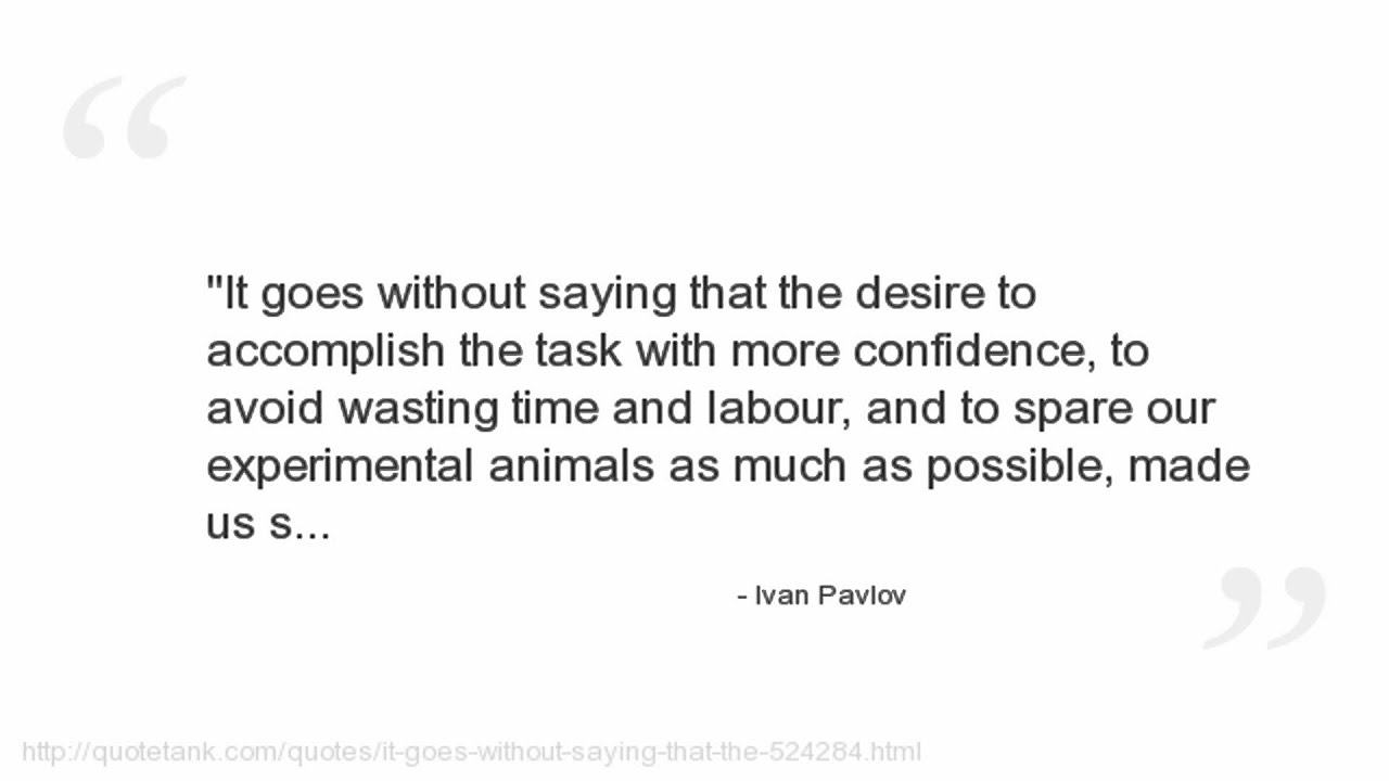Ivan Pavlov Quotes - YouTube