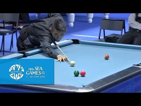 Billiards Men's 9-Ball Pool Singles Prelims Match 1   28th SEA Games Singapore 2015