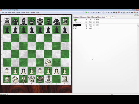 ChessBase - creating opening books/trees (.ctg)