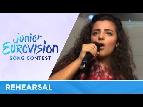 Christina Magrin - Parachute (Malta) Rehearsal Junior Eurovision 2016