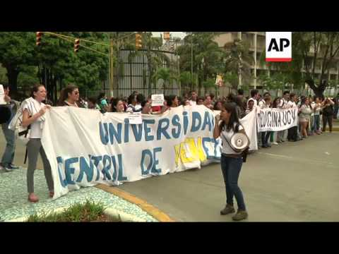 More than 200 young people arrested in Venezuela during a raid on makeshift protest camps were expec