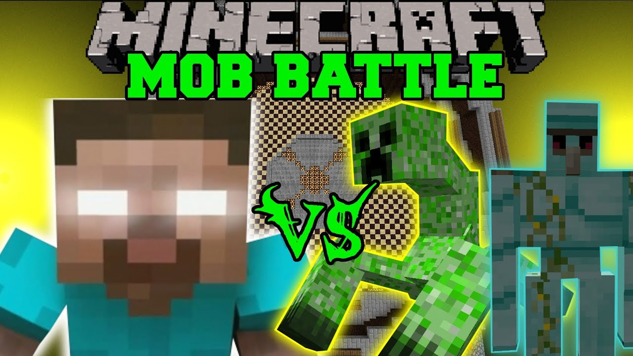 HEROBRINE VS DIAMOND GOLEM, MUTANT CREEPER, & TITAN ...