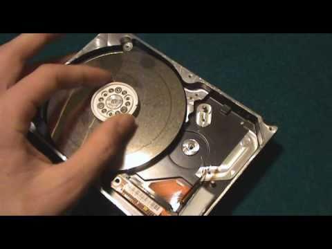 Lijadora con un disco duro