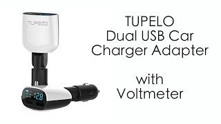 Dual USB adapter and voltmeter For Your Car / Motorcycle