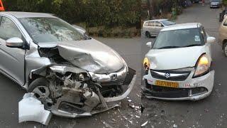 Honda City & Maruti Suzuki Swift Dzire Tour Crash on S Curve