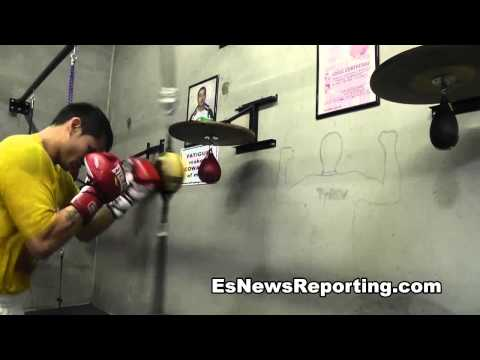 Maidana vs Lopez Marcos Maidana working on skills