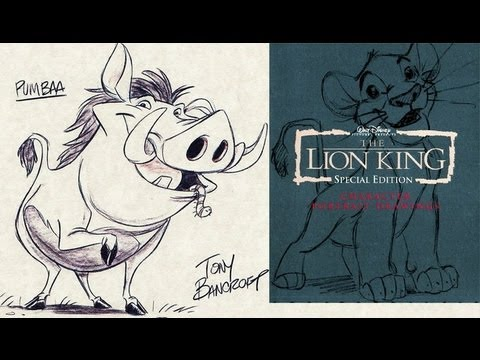 Disney Lion King Platinum Edition DVD Collectors set sketches drawings