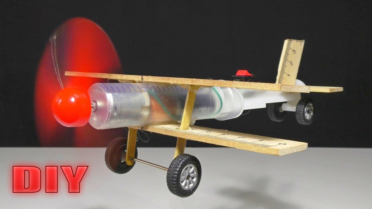 Сделать сам самолет с моторчиком своими руками 776