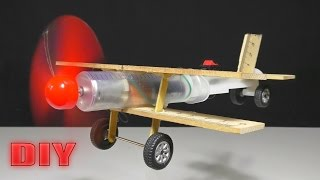 How to Make a Flying Airplane using Syringe and DC Motor