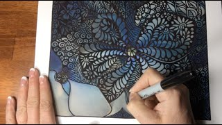 Sophie Draws - Blue Speed Doodle (doodle, drawing, tangle, zentangle, awesome, art))