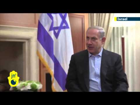 Top US diplomat John Kerry talks with Israeli PM Benjamin Netanyahu before meeting Abbas