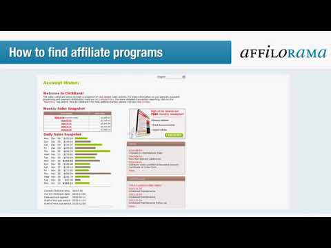 Affiliate Marketing For Beginners 4 - Make Money Online | How To Find Affiliate Programs