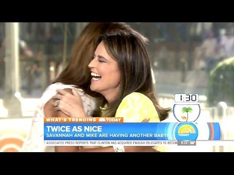 "Savannah Guthrie Surprise Announcement ""Im Pregnant"" #TodayShow"