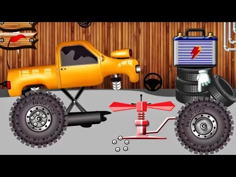 Garage - Car Driving | Vehicles for Kids - Repair Shop : Monster Truck | Transport for Kids