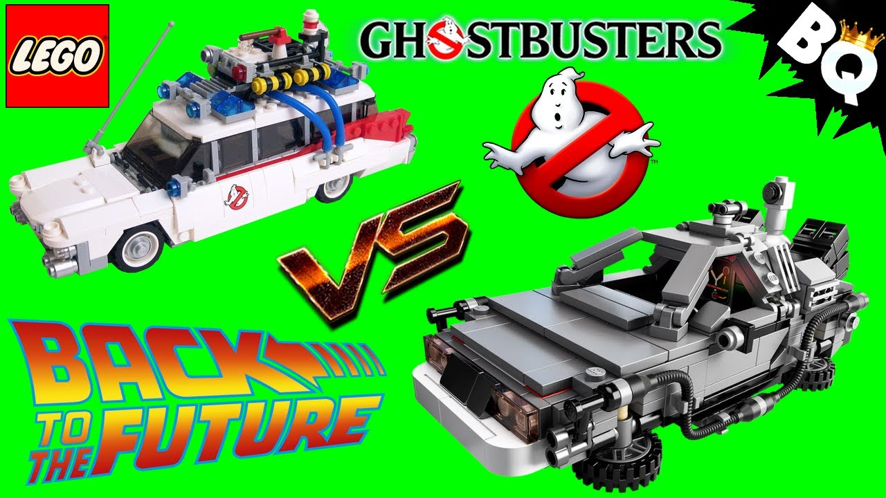 lego ghostbusters ecto 1 21108 vs back to the future 21103. Black Bedroom Furniture Sets. Home Design Ideas