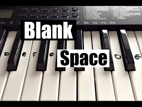 Blank Space - Taylor Swift | Easy Keyboard Tutorial With Notes (Right Hand)