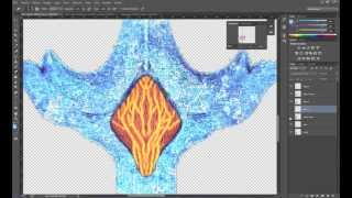 Photoshop | Make a texture of fire and ice for a sword Part 1 fire