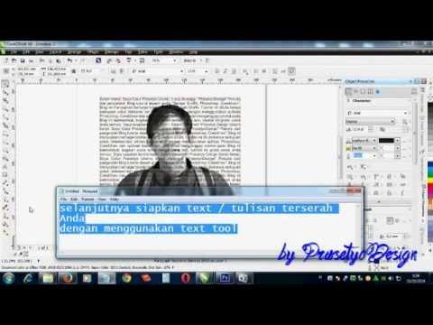 Cara Membuat Tipografi Wajah dengan CorelDraw