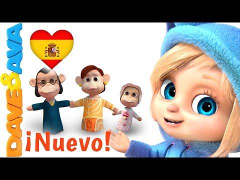 👋 Сanciones Infantiles   Canciones Infantiles en Español de Dave y Ava   La Familia Dedo 👋