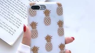 Gold Pineapple Phone cases For iPhone XS Max X XR 6 6s 7 8 Plus