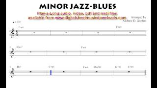 Minor Jazz Blues full band to practice with.