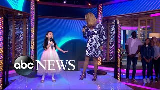 GMA Day's epic diva surprise for pint-sized singing superstar Malea Emma