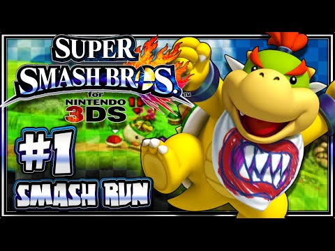 Super Smash Bros 3DS - (1080p) Part 1 - Smash Run w/Bowser Jr