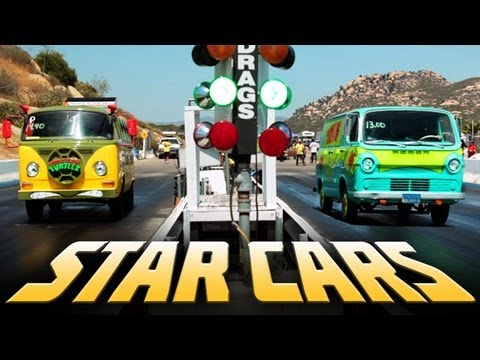 STAR CARS- Drag Racing 16 TV/Movie Cars! (Ep. 10)