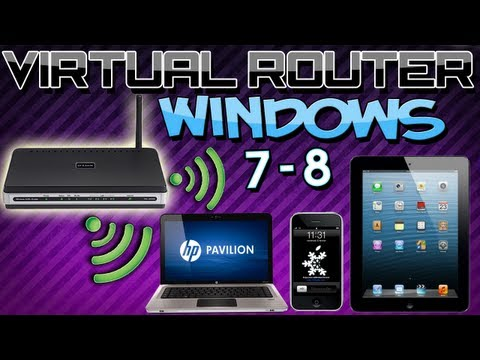 Como Crear un Router Virtual en Windows 7/8 [Comparte Internet por Wifi desde tu Pc o Laptop]