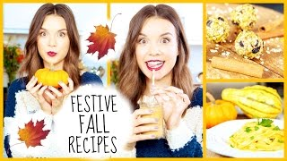 Festive Fall Recipes: Breakfast, Snack + Dinner Ideas!