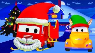 Tom The Tow Truck's Paint Shop : Frank is Santa Claus | CHRISTMAS SPECIAL Truck cartoons for kids