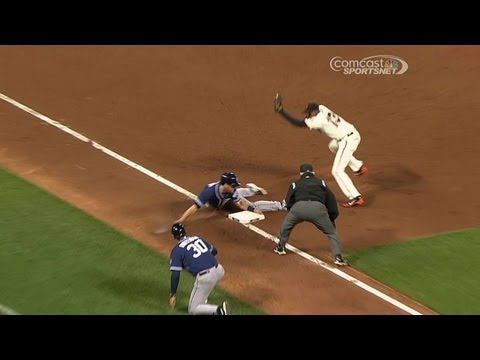 Juan Perez throws out Logan Forsythe going for third June 17 2013