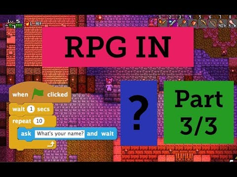 How to make a 2D RPG in scratch (3 of 3): decorating tiles + house