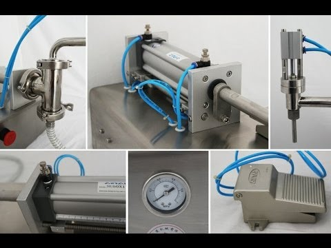 Festo cylinder pneumatic filling machine 500-5000ml semi automatic cream lotion filler equipment