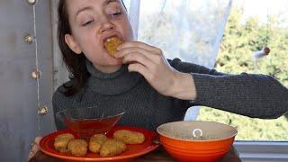 ASMR Whisper Eating Sounds Delicious Crispy Nuggets | Thougts On Corona Virus
