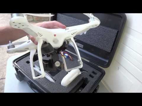 DJI Phantom with Zenmuse H3-2D Gimbal, FPV System, GPS Cellular Tracker