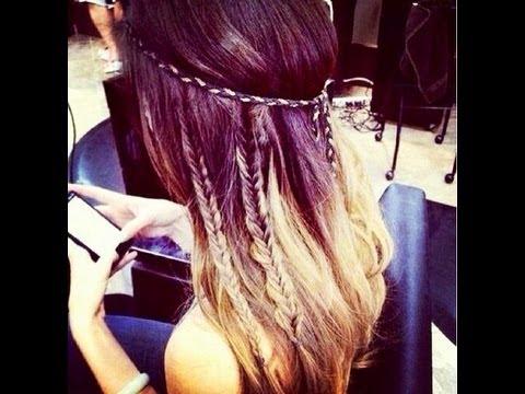 Coachella Hippie Hair Style - YouTube