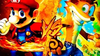 MARIO BROS VS. CRASH BANDICOOT ║ COMBATES MORTALES DE RAP ║ JAY-F
