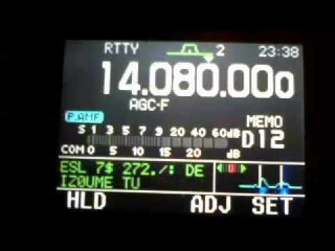 Icom-ic 7000 rtty reception of aa2mf/4