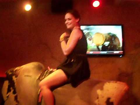 Tori On Mechanical Bull At Dos Diablos Chicago video