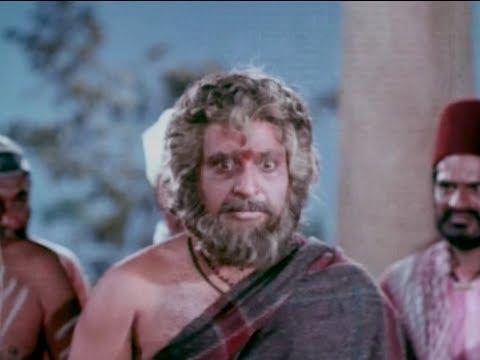 Sri Shirdi Sai Baba Mahathyam Movie Scenes – Nanavali yelling at Sai Baba Photo Image Pic