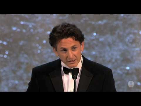 "Sean Penn winning an Oscar® for ""Mystic River"""